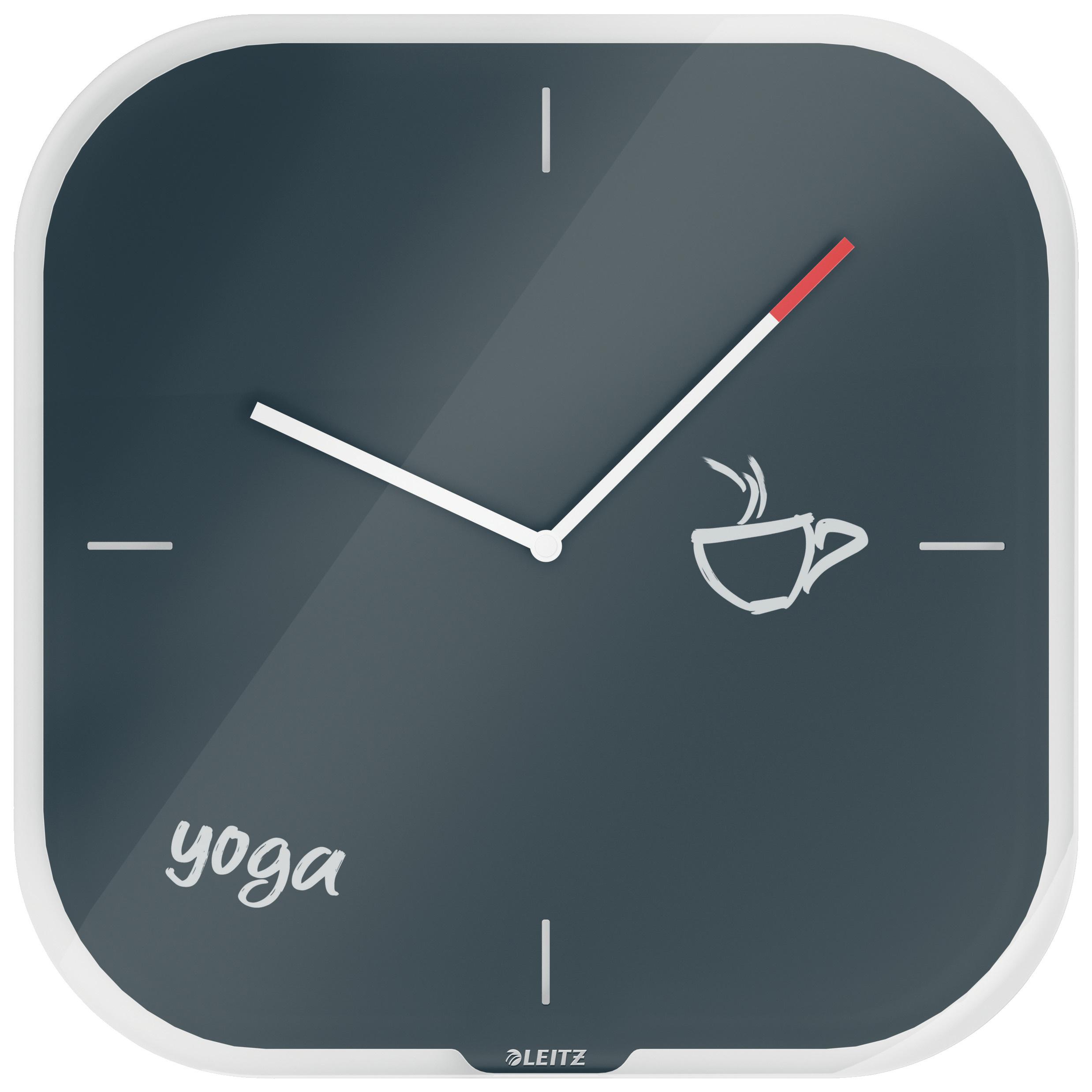 Часы настенные Cosy, квадратные, стекло, серый LEITZ - фото 7