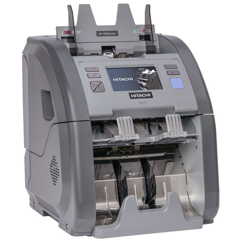 Счетчик банкнот Hitachi -iH110, Двухкарманный, серый DORS - фото 3