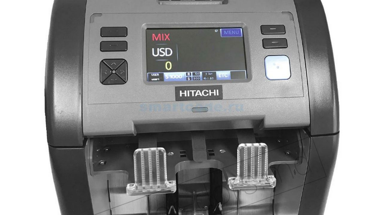 Счетчик банкнот Hitachi -iH110, Двухкарманный, серый DORS - фото 4