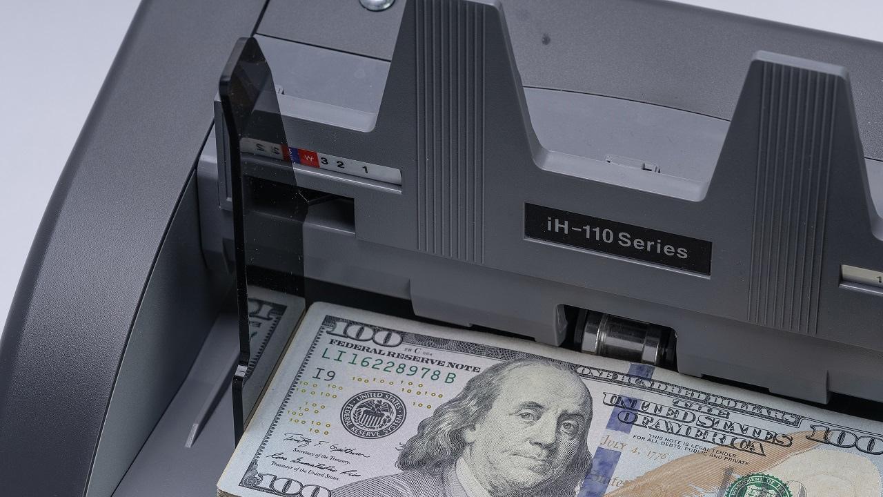 Счетчик банкнот Hitachi -iH110, Двухкарманный, серый DORS - фото 5