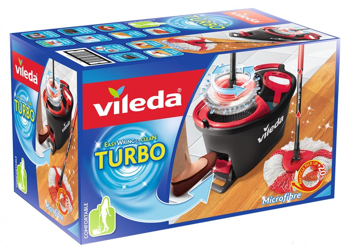Набор для уборки EasyWring&Clean TURBO Швабра и ведро с отжимом Vileda - фото 6