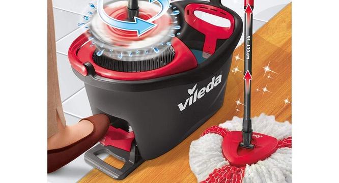 Набор для уборки EasyWring&Clean TURBO Швабра и ведро с отжимом Vileda - фото 7