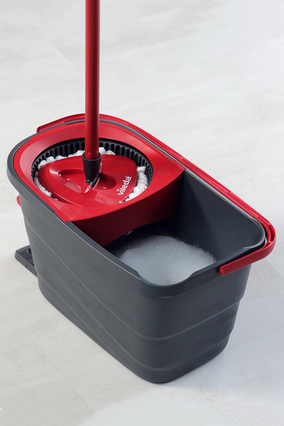 Набор для уборки Easy Wring&Clean Turbo Smart. Швабра и ведро с отжимом, темно-сер. Vileda - фото 4