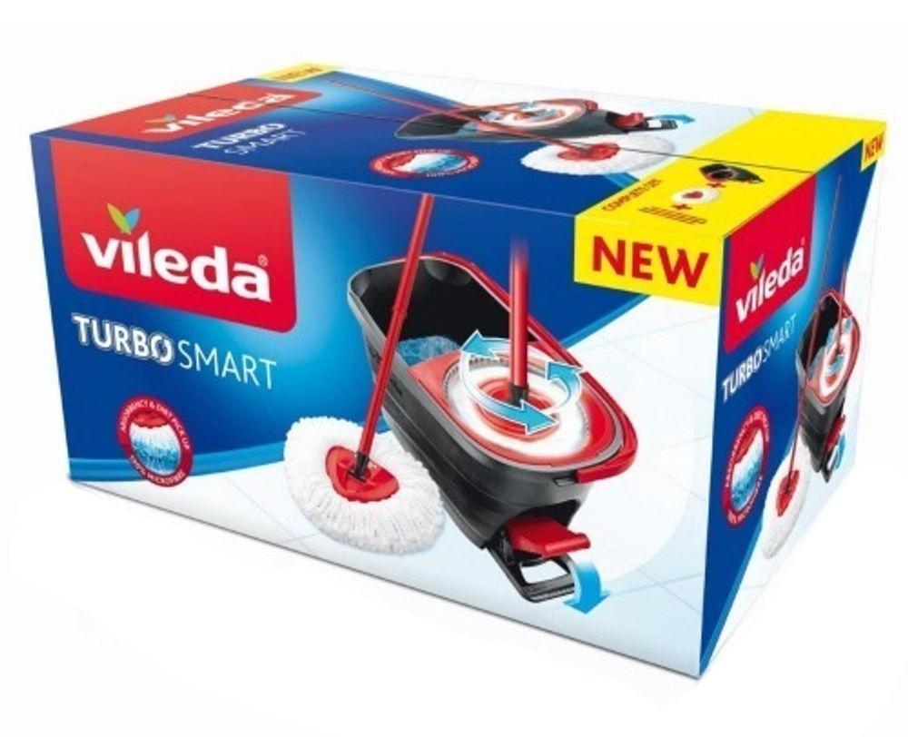 Набор для уборки Easy Wring&Clean Turbo Smart. Швабра и ведро с отжимом, темно-сер. Vileda - фото 5