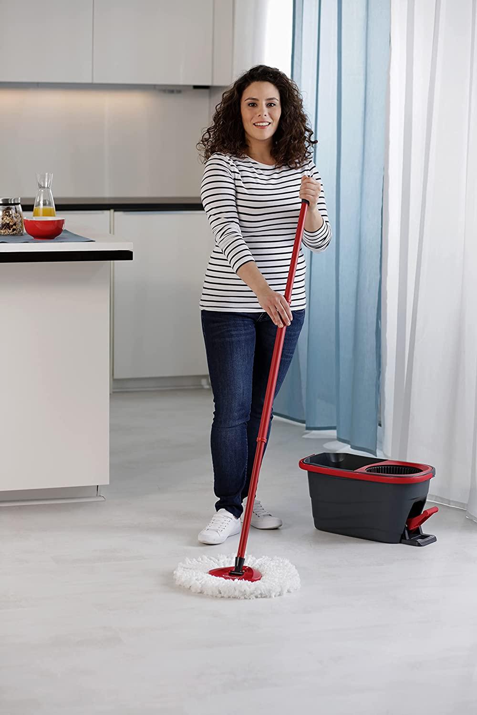 Набор для уборки Easy Wring&Clean Turbo Smart. Швабра и ведро с отжимом, темно-сер. Vileda - фото 6