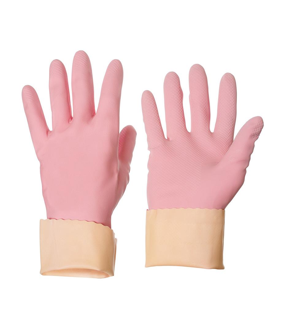Перчатки резиновые для уборки Sensitive ComfortPlus S, маленькие, розов. Vileda - фото 4