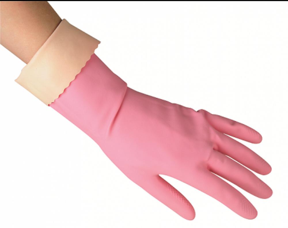Перчатки резиновые для уборки Sensitive ComfortPlus M, среднии, розов. Vileda - фото 2