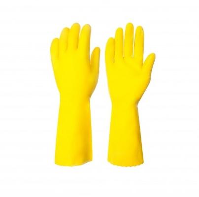Перчатки резиновые для уборки Super Grip L, большие, желт. Vileda - фото 3