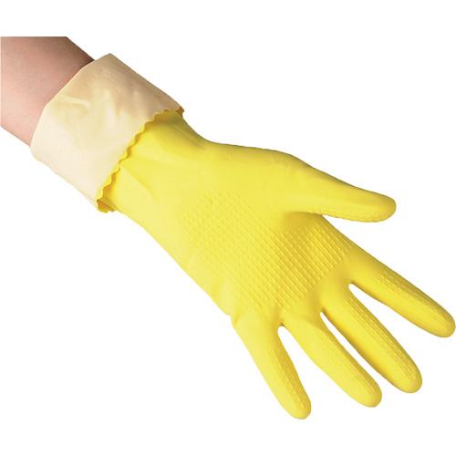 Перчатки резиновые для уборки Super Grip L, большие, желт. Vileda - фото 4