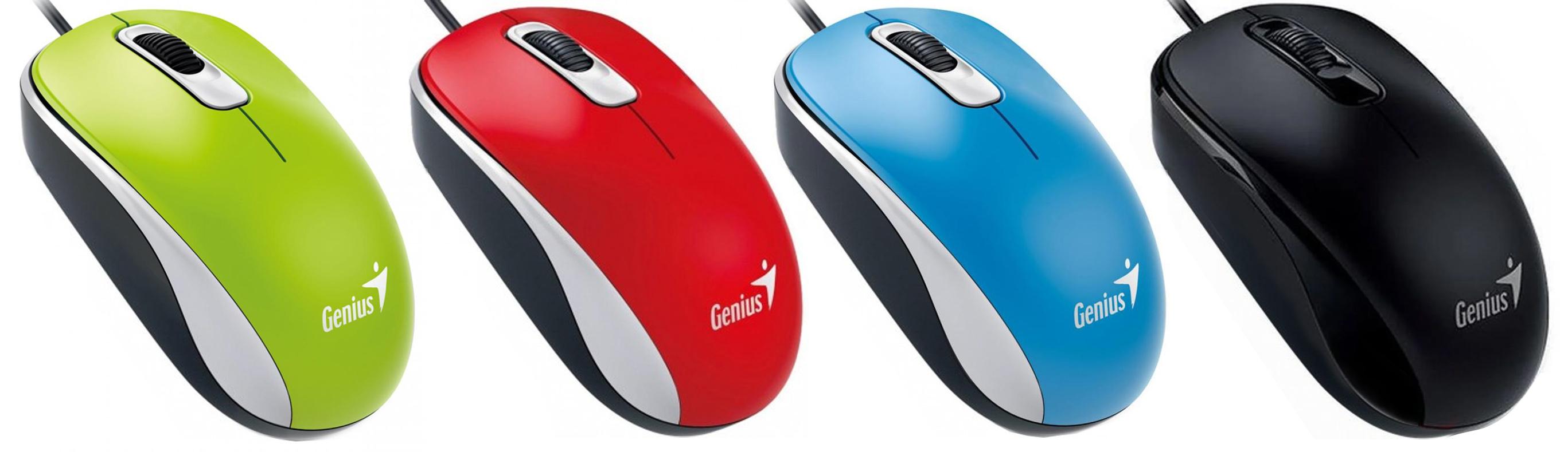 Мышь USB оптическая DX-110, красн. Genius - фото 4
