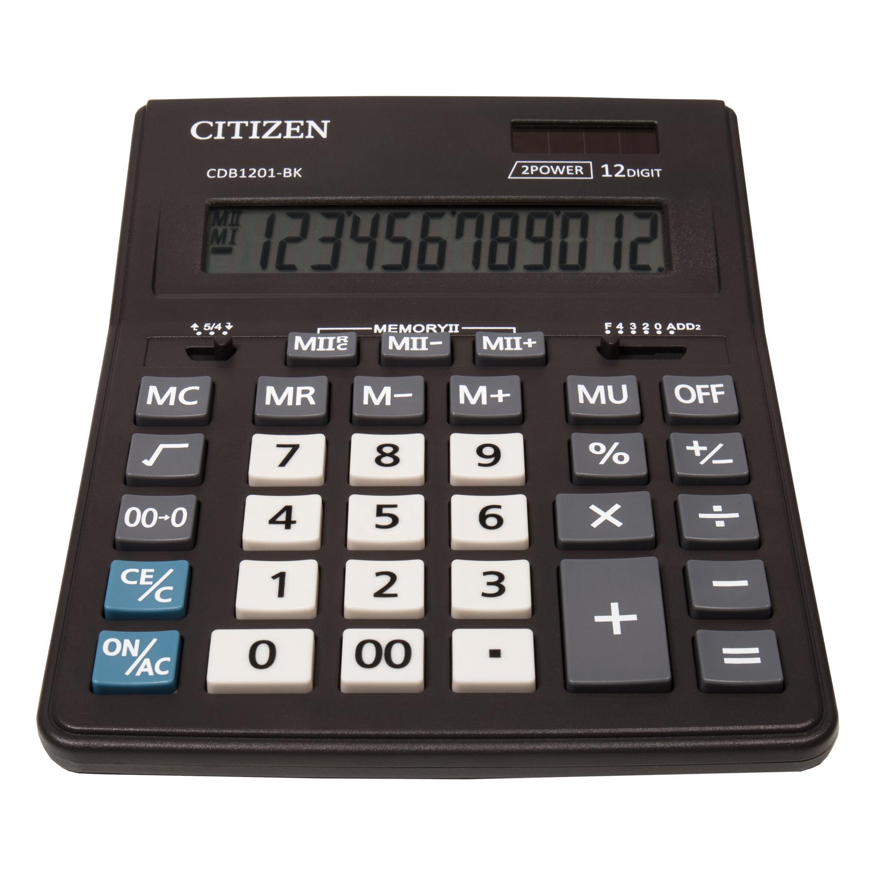 Калькулятор CDB1201-BK 12 разрядов, 205х155х35мм., черн. Citizen - фото 3
