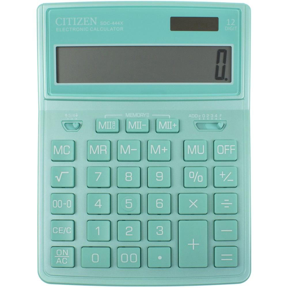 Калькулятор бухгалтерский SDC444XRGNE-green 12 разрядов, 204х155х32мм., зелен. Citizen - фото 3