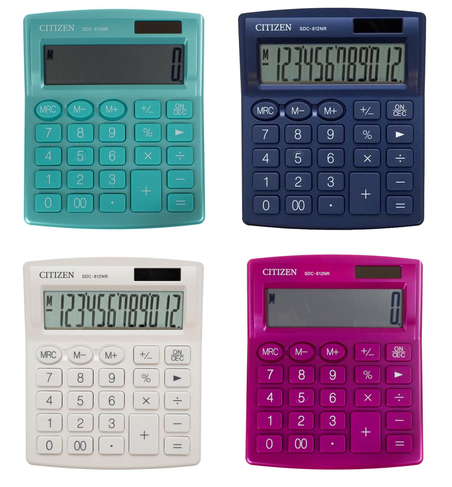 Калькулятор бухгалтерский SDC812NRWHE-white 12 разрядов, 125х100х34мм., бел. Citizen - фото 5