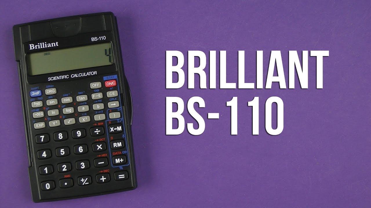 Калькулятор инженерный BS-110, 8+2 разрядов, 56 функций, 72х120х12мм, черн. Brilliant - фото 3