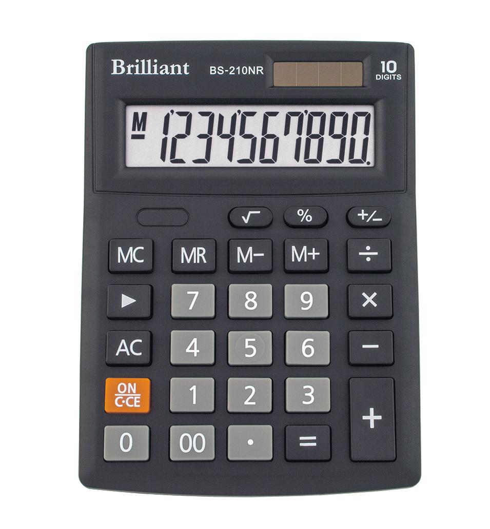 Калькулятор бухгалтерский BS-210NR, 10 разрядов, 103х137х31мм, черн. Brilliant - фото 2