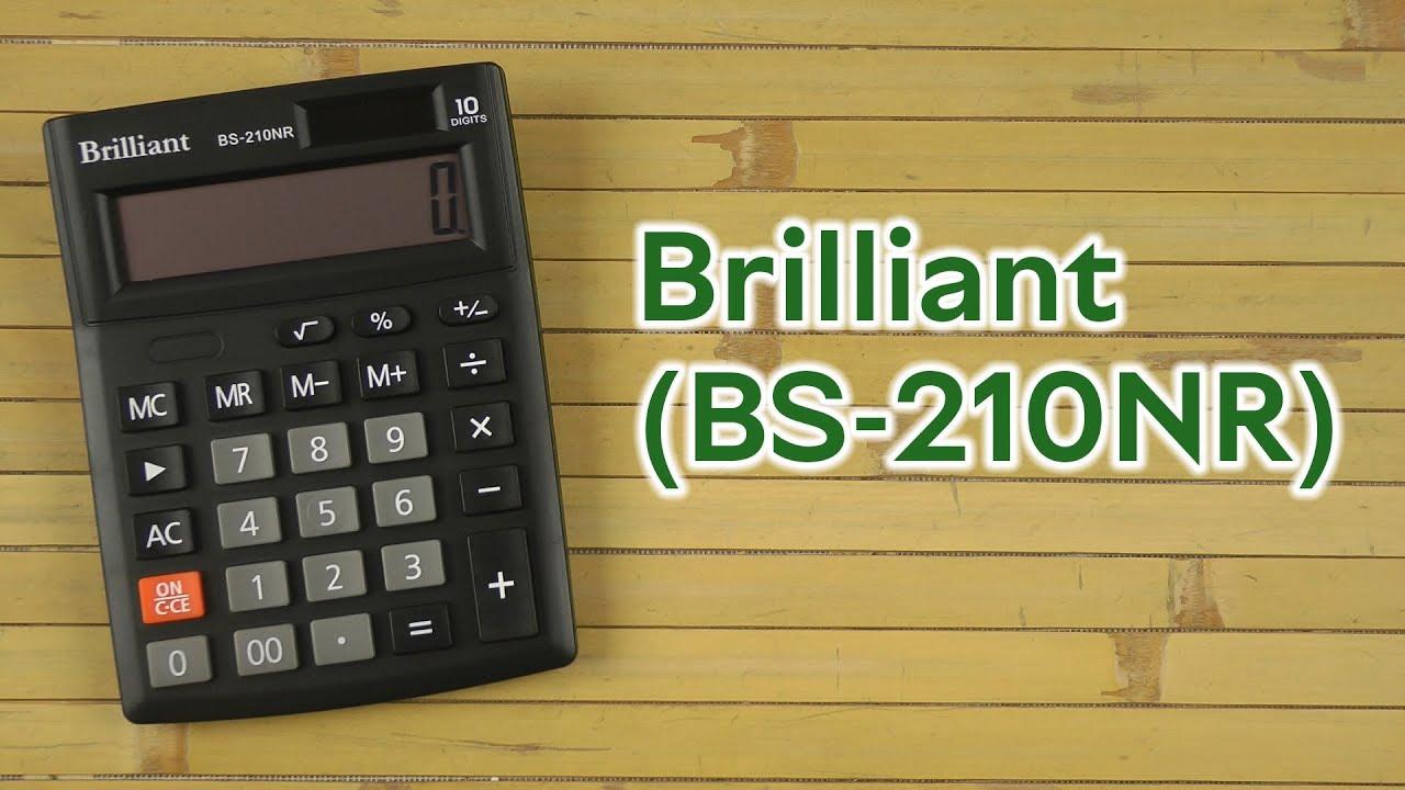 Калькулятор бухгалтерский BS-210NR, 10 разрядов, 103х137х31мм, черн. Brilliant - фото 3