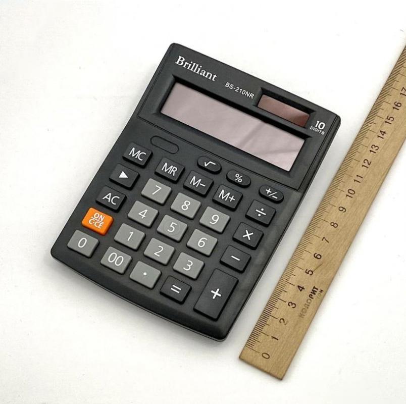 Калькулятор бухгалтерский BS-210NR, 10 разрядов, 103х137х31мм, черн. Brilliant - фото 4