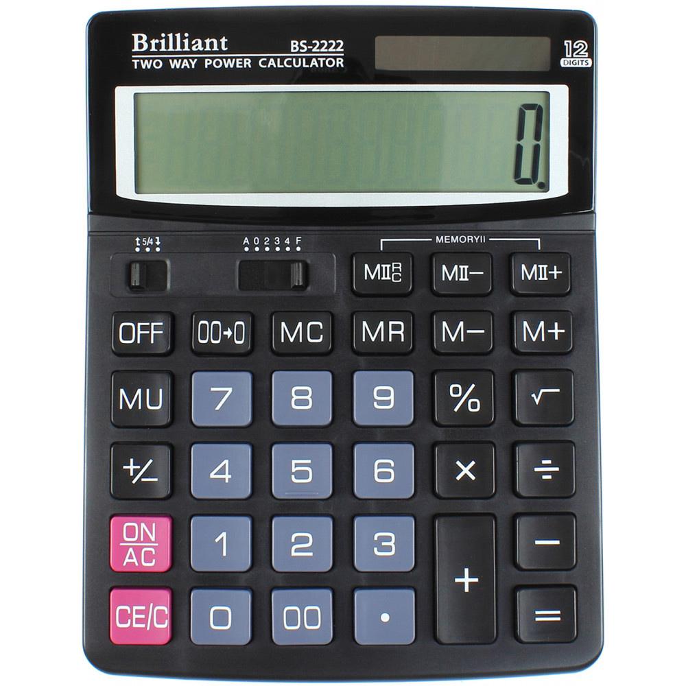 Калькулятор бухгалтерский BS-2222, 12 разрядов, 150х193х29мм, черн. Brilliant - фото 2