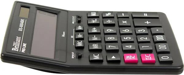 Калькулятор бухгалтерский BS-8884BK, 14 разрядов, 150х200х30мм, черн. Brilliant - фото 3