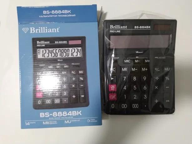Калькулятор бухгалтерский BS-8884BK, 14 разрядов, 150х200х30мм, черн. Brilliant - фото 4