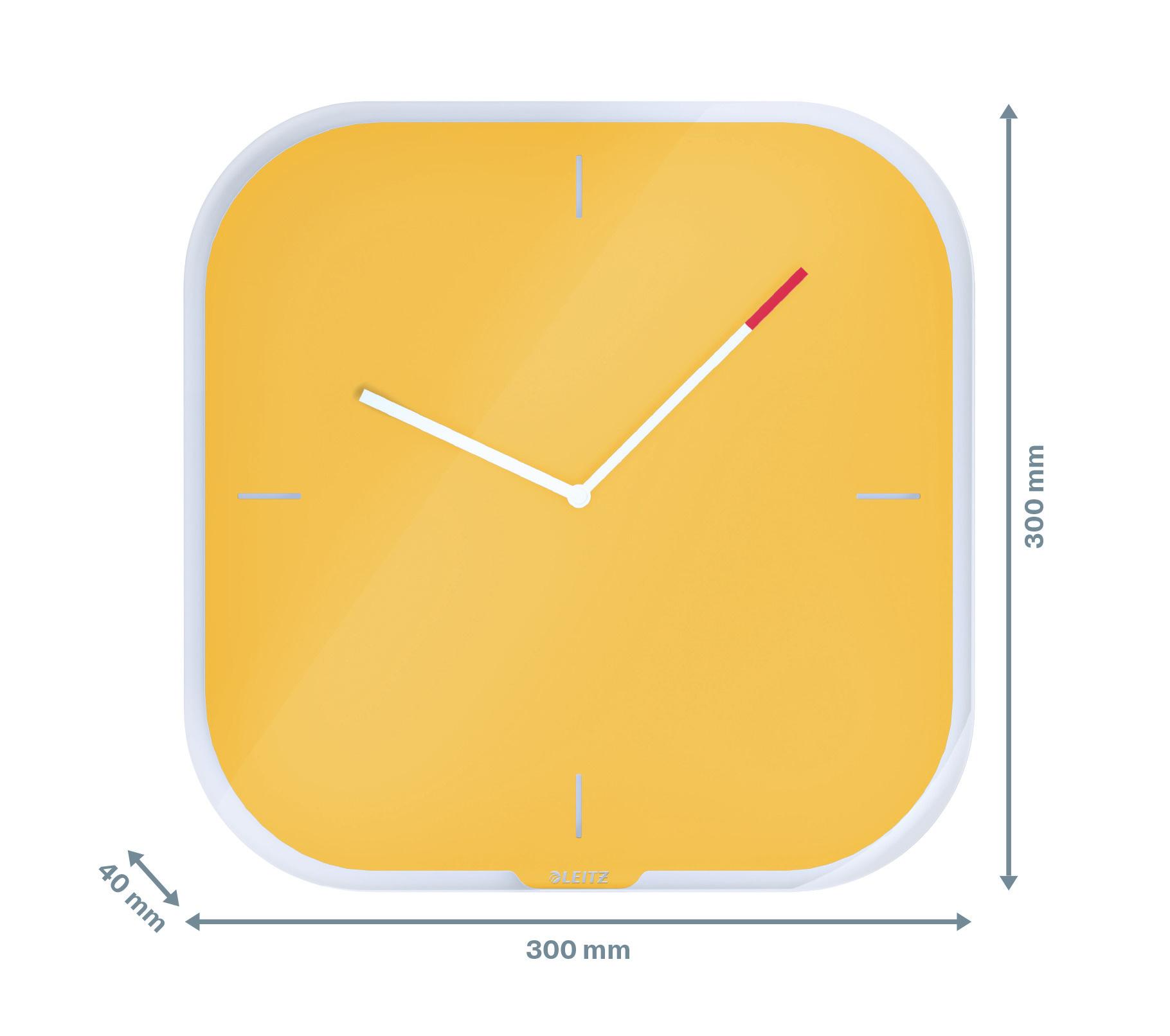 Часы настенные Cosy, квадратные, стекло, желт. LEITZ - фото 8