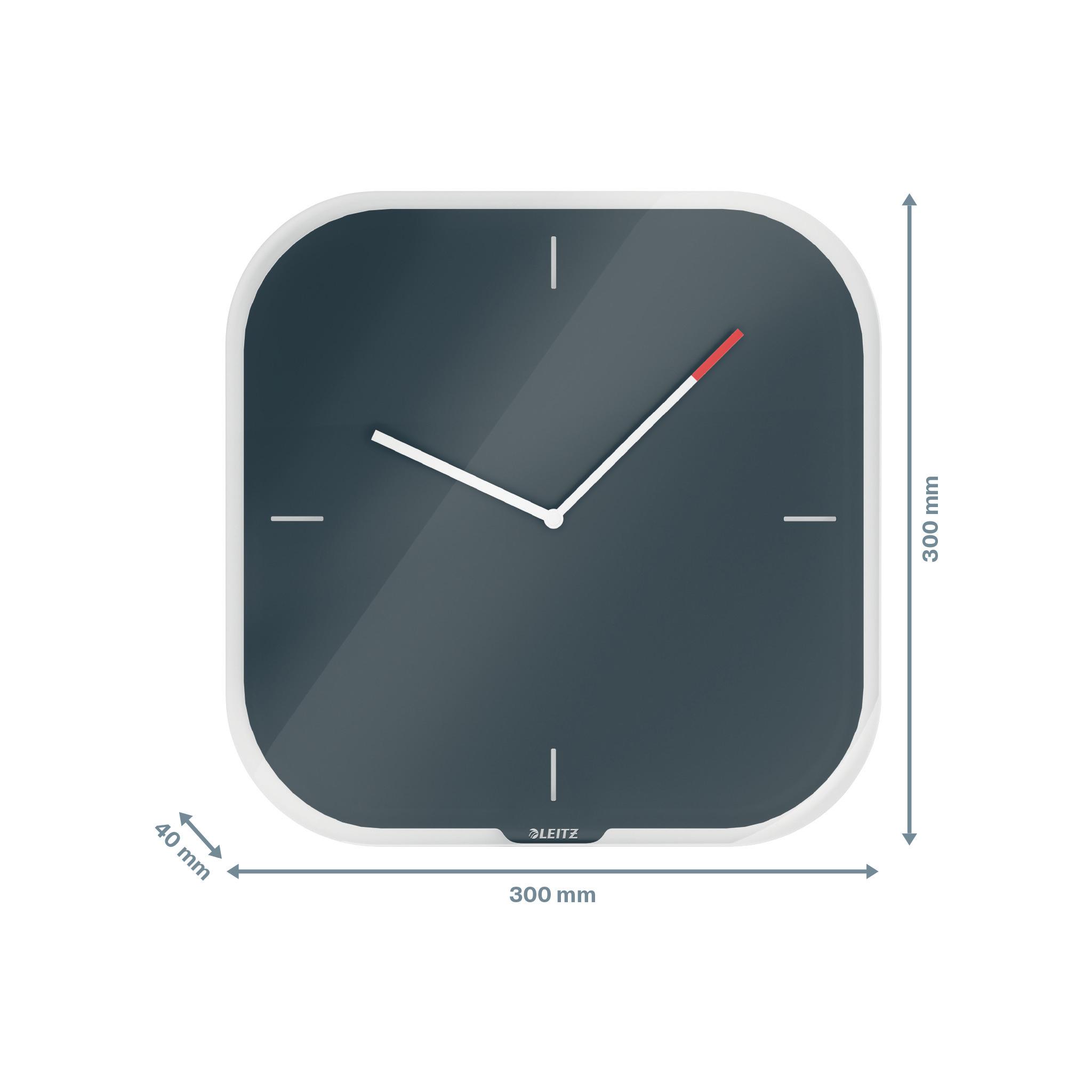Часы настенные Cosy, квадратные, стекло, серый LEITZ - фото 8
