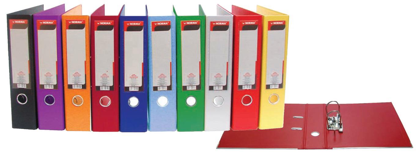 Регистратор 5см. А4 (PVC) Lux, красн. NORMA - фото 1