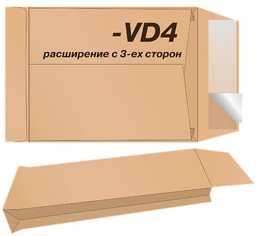 Конверт C4 229*324 отр. лента, бок. клапан, крафт, расширение, загрузка по короткой стороне, коричн. Optimail - фото 2