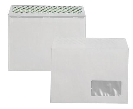 Конверт C5 162*229 отр. лента, окно, 80гр./м2. 500шт./уп., загрузка по длинной стороне, бел. Optimail - фото 2