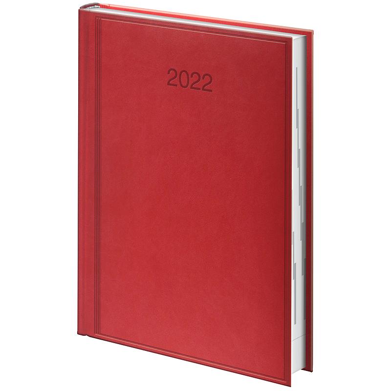 Ежедневник датированный 2022 Стандарт Torino, 14,5х20,6см., красн. Brunnen - фото 2