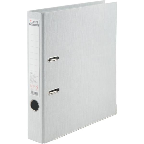 Регистратор 5см. А4 (двухстороннее покрытие PVC) Prestige, бел. Axent - фото 1