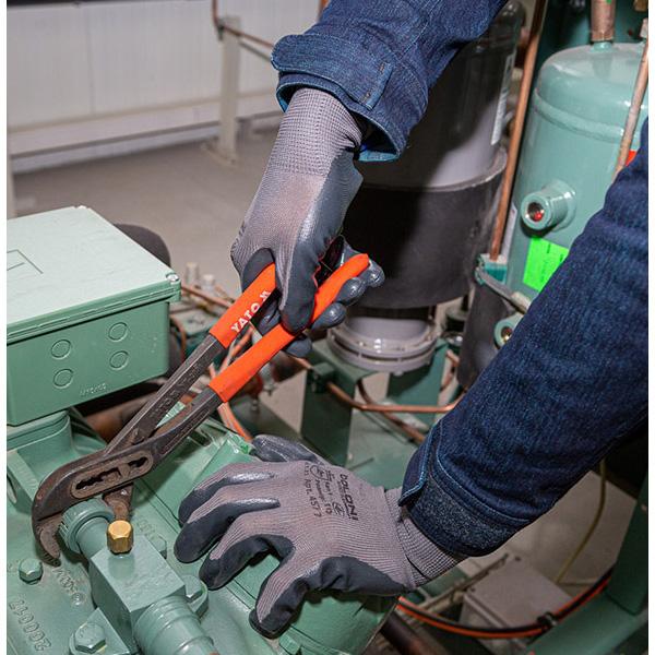 Перчатки трикотажные с нитриловым покрытием D-OIL, маслобензостойкие, размер 10 (XL), серый Doloni - фото 3