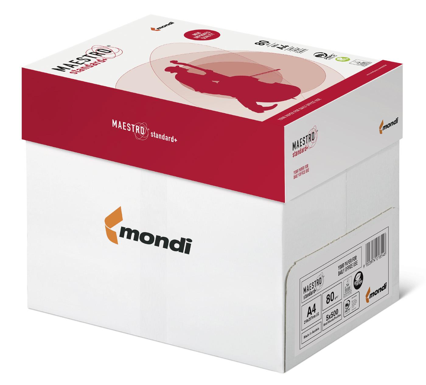 Бумага А4 80гр./м2. 500 листов Maestro Standard Plus Mondi - фото 3