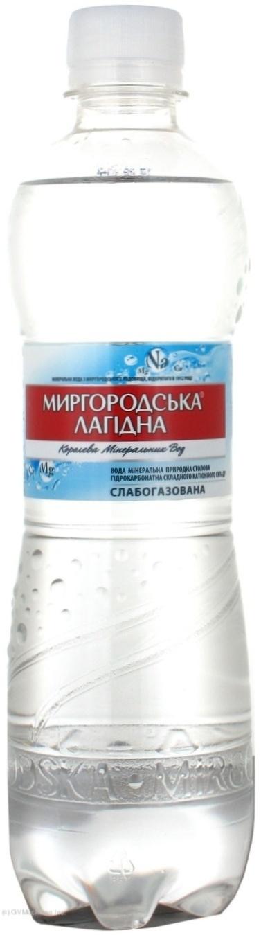 Вода минеральная газированная Лагидна 0,5л., 12шт./уп., пластиковая бутылка Миргородская - фото 1