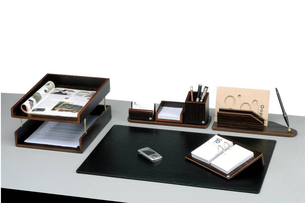 Набор настольный деревянный 8 предметов, орех Bestar - фото 1