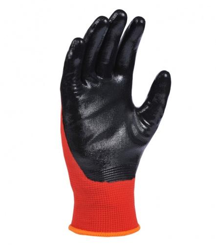 Перчатки трикотажные с нитриловым покрытием D-OIL, маслобензостойкие, размер 8 (M), красн. Doloni - фото 4