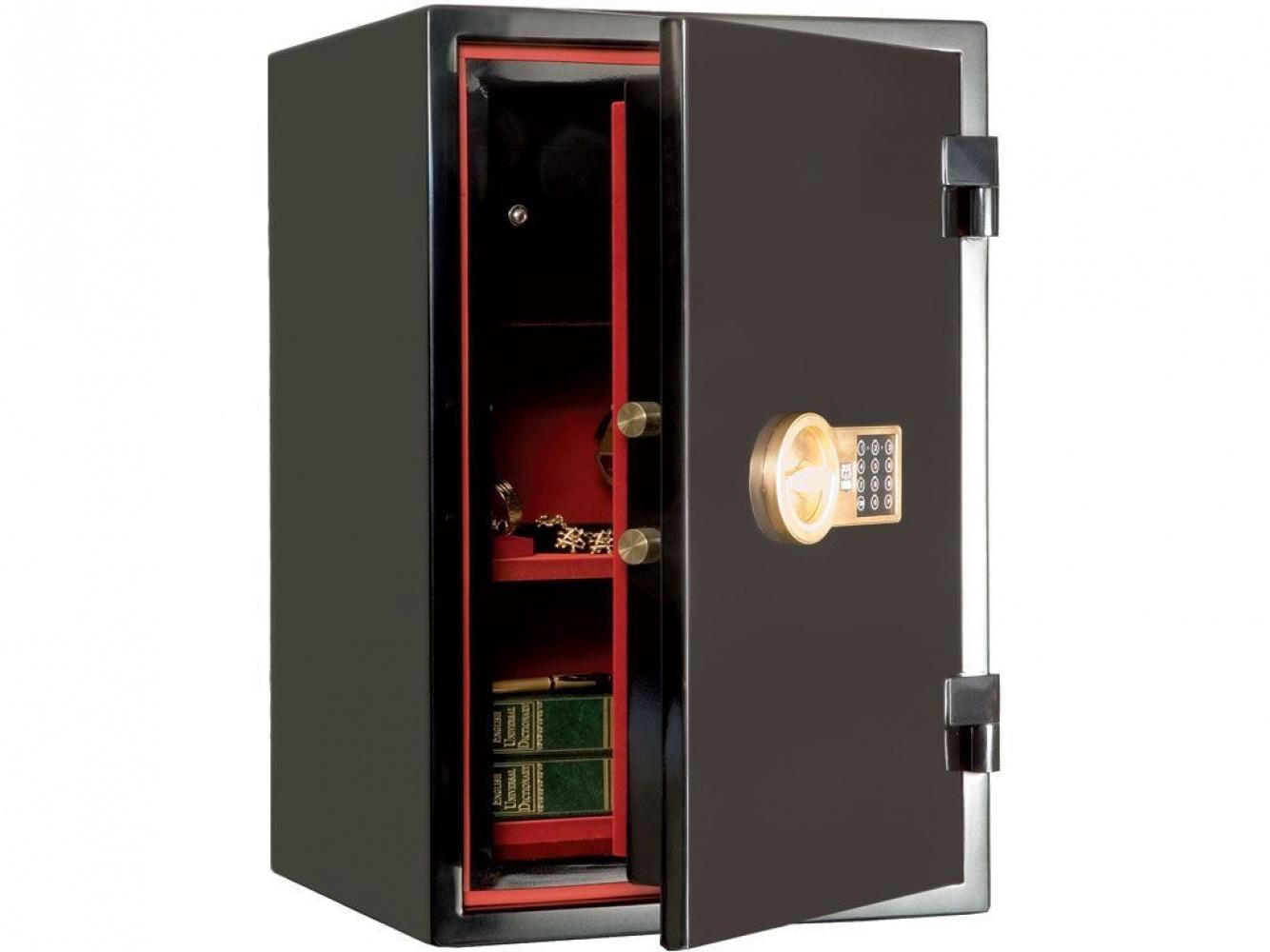 Сейф огневзломостойкий (460*440*440мм.) электронно кодовый замок, 1 полка, 1 клас, Гарант-46 EL, виш Valberg - фото 6