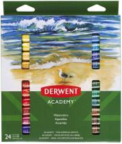 Краски акварельные 24цв., в тюбике Derwent Academy, ассорт.