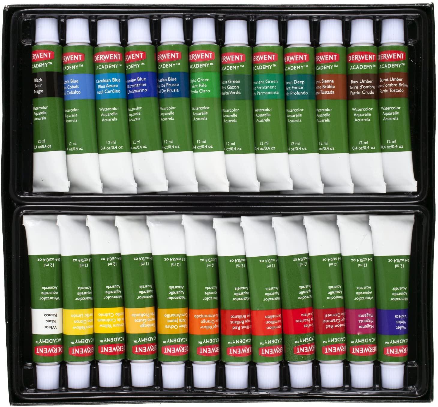 Краски акварельные 24цв., в тюбике Derwent Academy, ассорт. Derwent - фото 2
