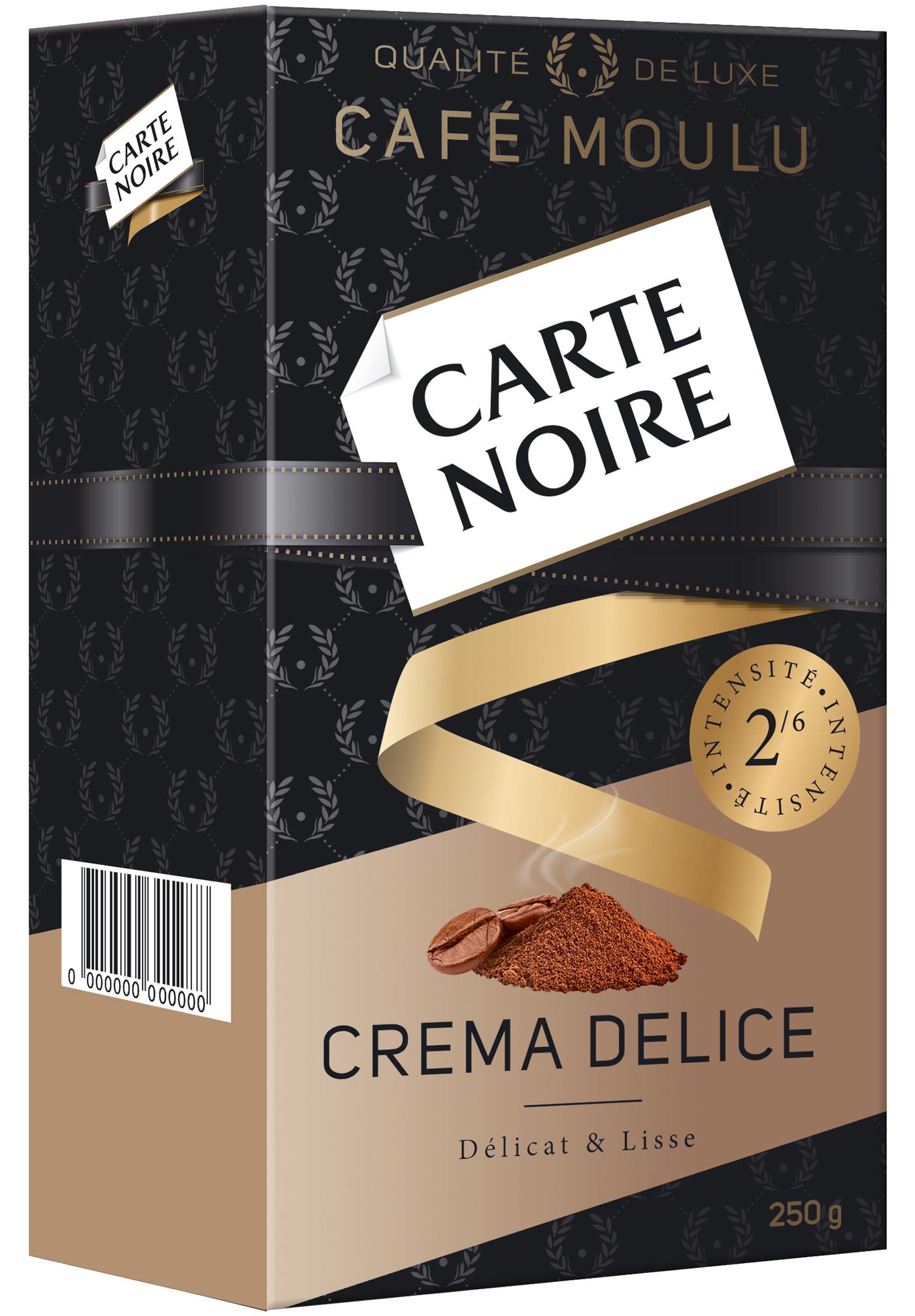 Кофе молотый Carte Noire 250гр. Crema Delice Carte Noire - фото 2