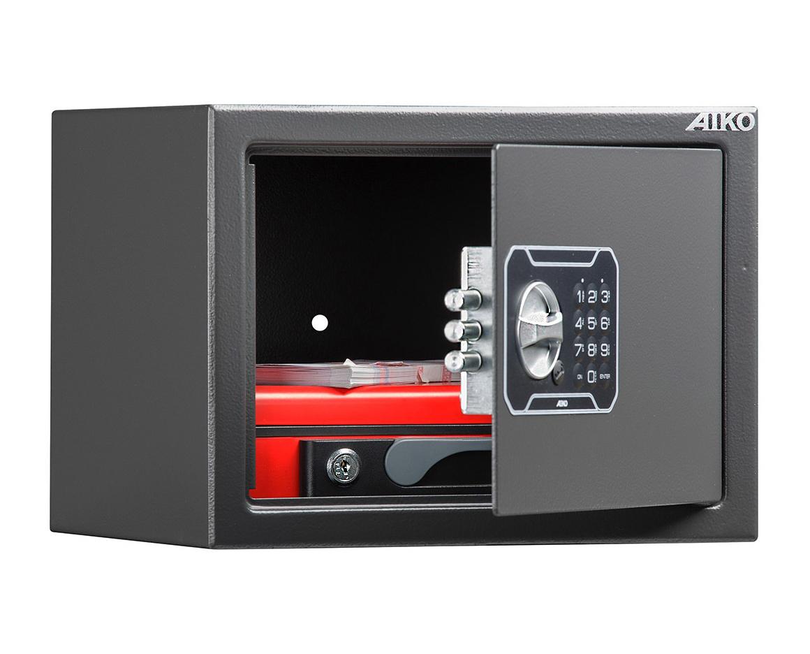 Сейф мебельный (230*310*250мм.) электронный кодовый замок, 1 дверь, T-230 EL, графит AIKO - фото 2