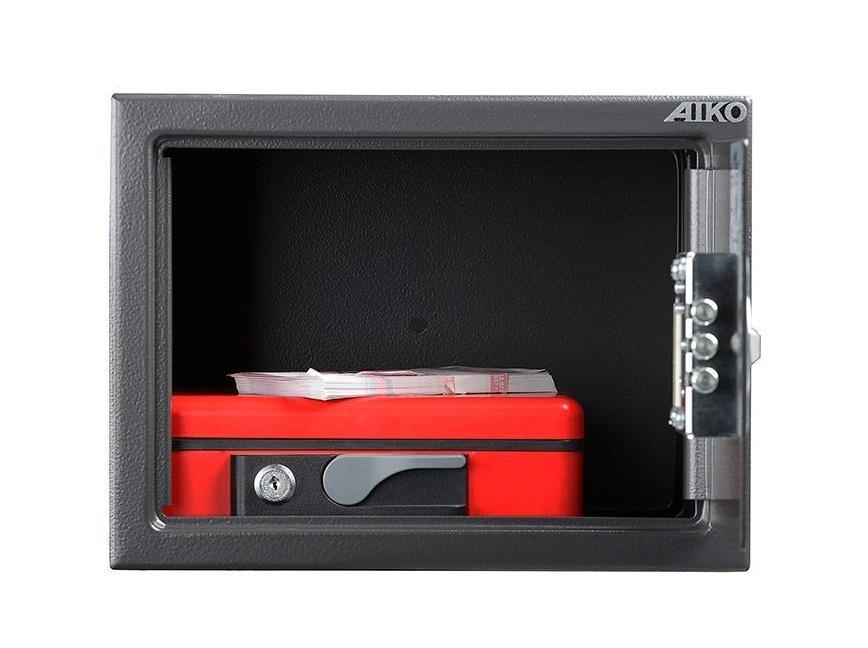 Сейф мебельный (230*310*250мм.) электронный кодовый замок, 1 дверь, T-230 EL, графит AIKO - фото 3