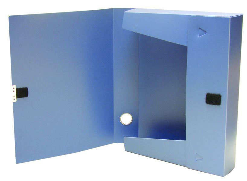 Папка-бокс на липучці 55мм., пластикова, асорті 4Office - фото 2