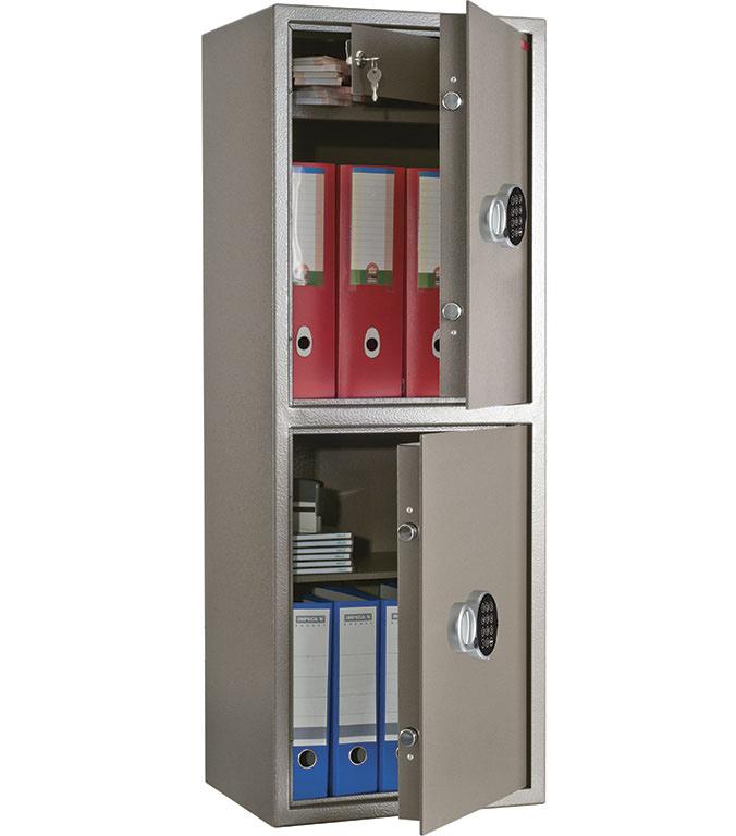 Сейф офисный (1200*440*355мм.)  с электронным кодовым замком, 2 двери, 1 полка, TM.120Т/2 EL, коричн AIKO - фото 3