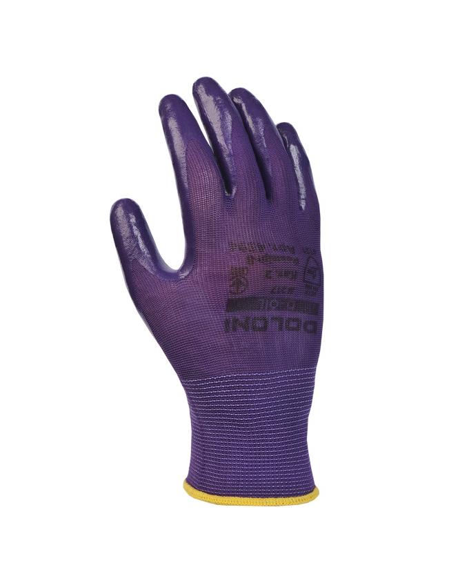 Рукавички трикотжні з нітриловим покриттям D-OIL, маслобензостойкі, розмір 8 (M), фіолет. Doloni - фото 4