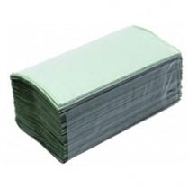 Полотенца листовые V (ZZ) -складки 1-сл., макул., 200 лист.(22,5*22,5см.), ECO, зелен.