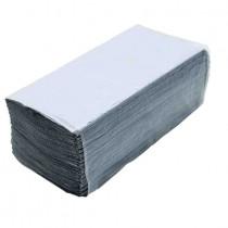 Полотенца листовые V (ZZ) -складки 1-сл., макул., 200 лист.(22,5*22,5см.), ECO, сер.