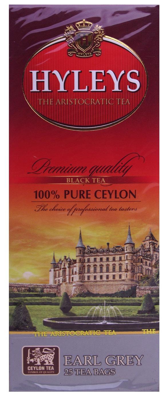 Чай черный ароматизированный Эрл Грей 25пак. по 2гр. Hyleys - фото 1