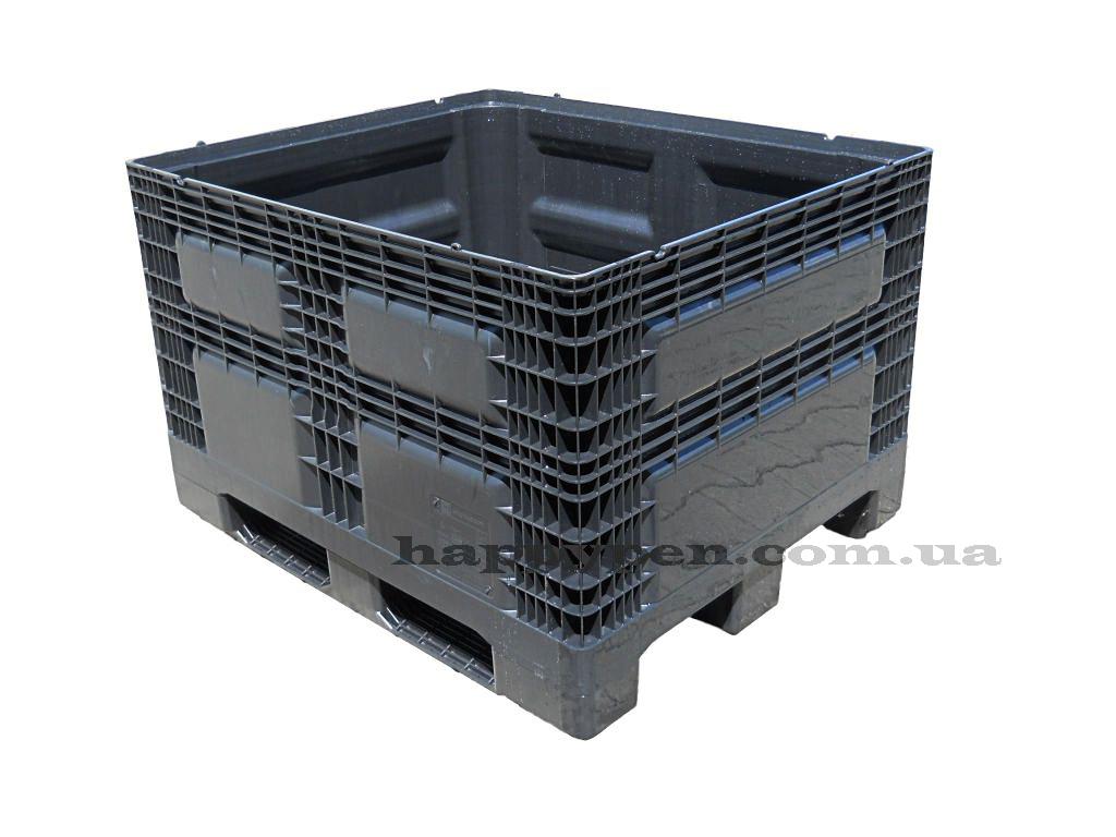 Контейнер пластиковый сплошной на 3-х полозьях (непищевой) 1200*1000*780мм, черн. Georg UTZ - фото 1