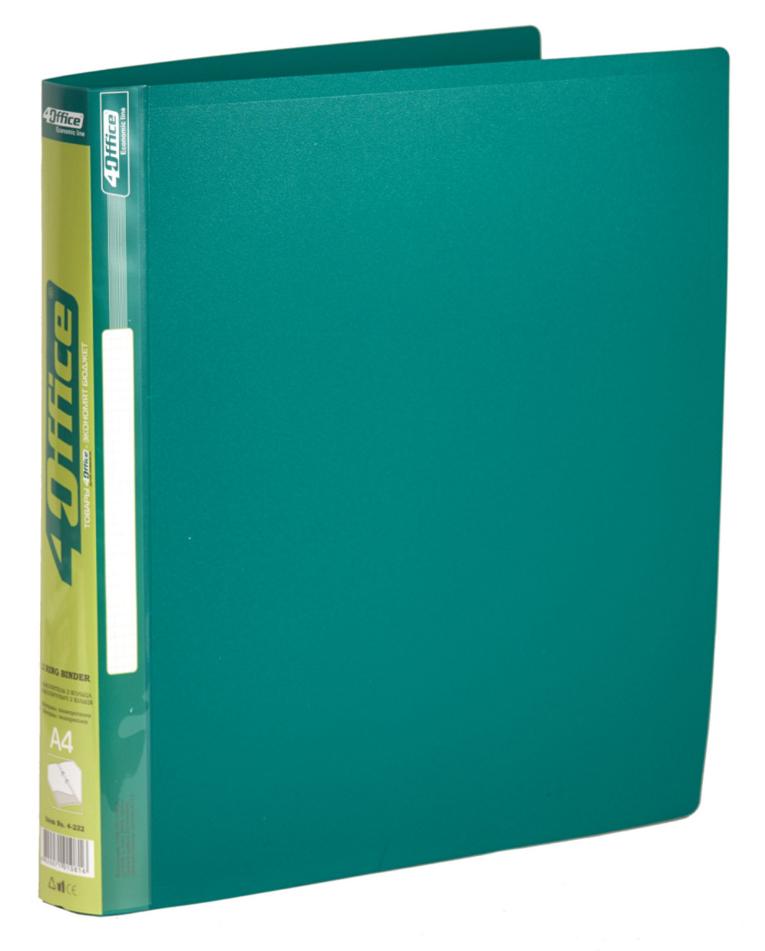 Папка А4 25мм. 2кольца, пластик, ассорт. 4Office - фото 1